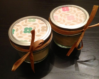 Twenty, 4 ounce soy candle baby shower favor - bridal shower favor - wedding favor