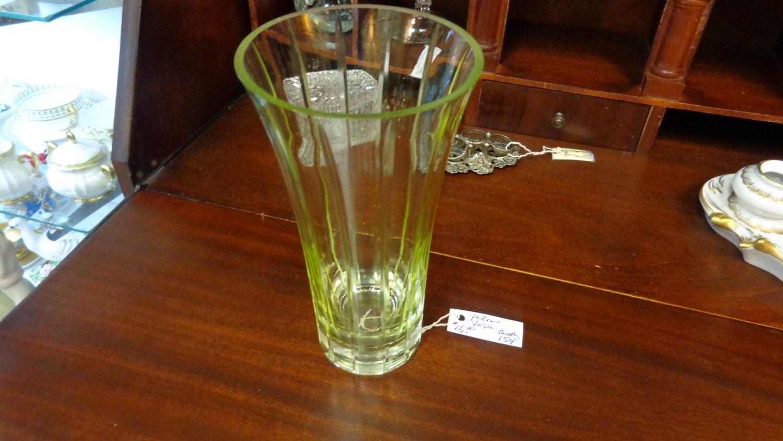 Vintage Mid Century Yellow Glass Vase / by TribecasTreasures