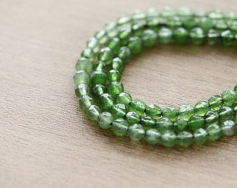 50 pcs of Faceted Round Green Dye Gemstone Beads - 4 mm