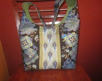 Tote and Wallet - Black/Blue/Green/Purple/Gold