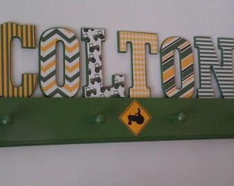 Tractor John Deere Inspired Letters Custom Room Decor