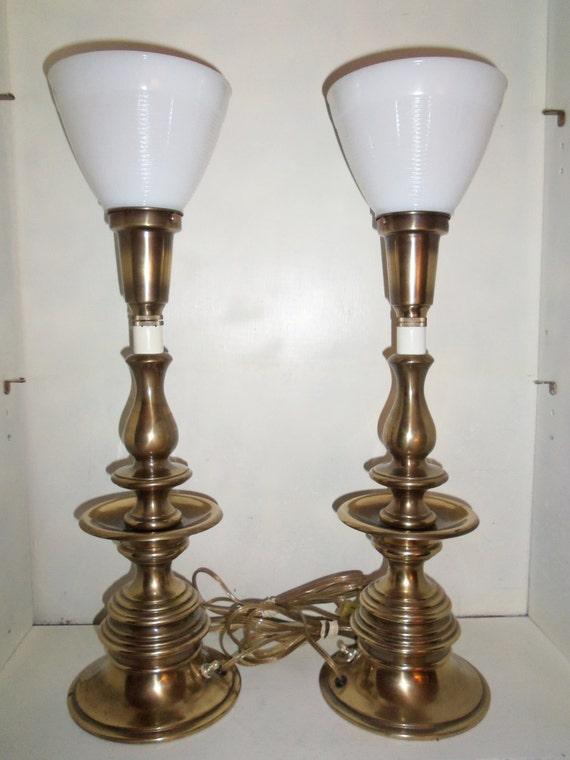 Vintage Tommi Parzinger Mid Century Brass Torchier Electric