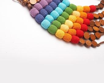 Rainbow Nursing Necklace - Baby Teething - Breast Feeding Necklace