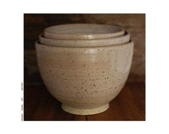 bowl set : white/cream