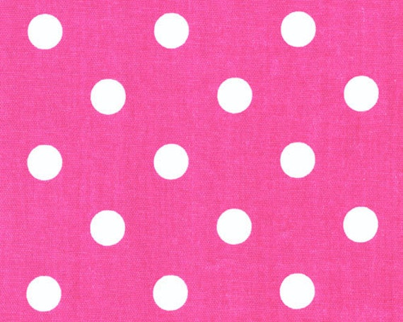hot pink fabric candy pink and white polka dots duck premier. Black Bedroom Furniture Sets. Home Design Ideas