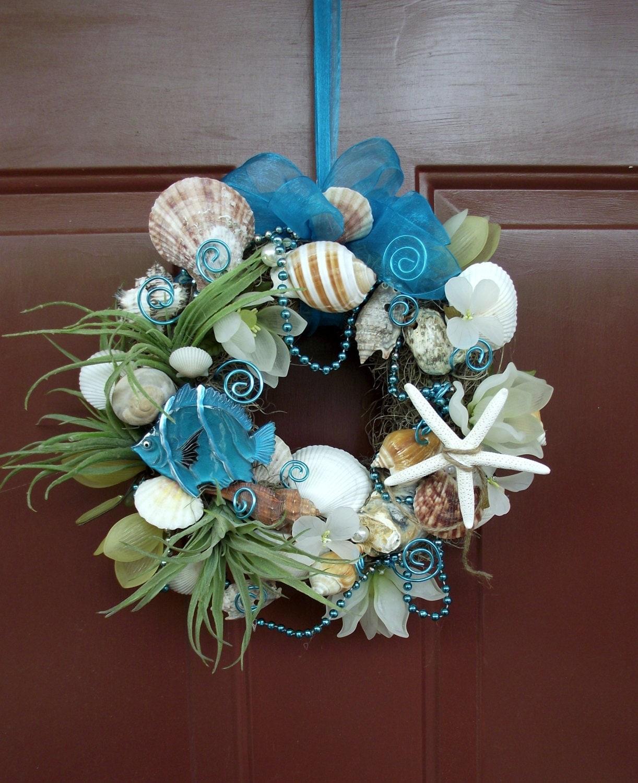 Adorable Florist Made Sea Shell Beach Wreath Nautical Wreath