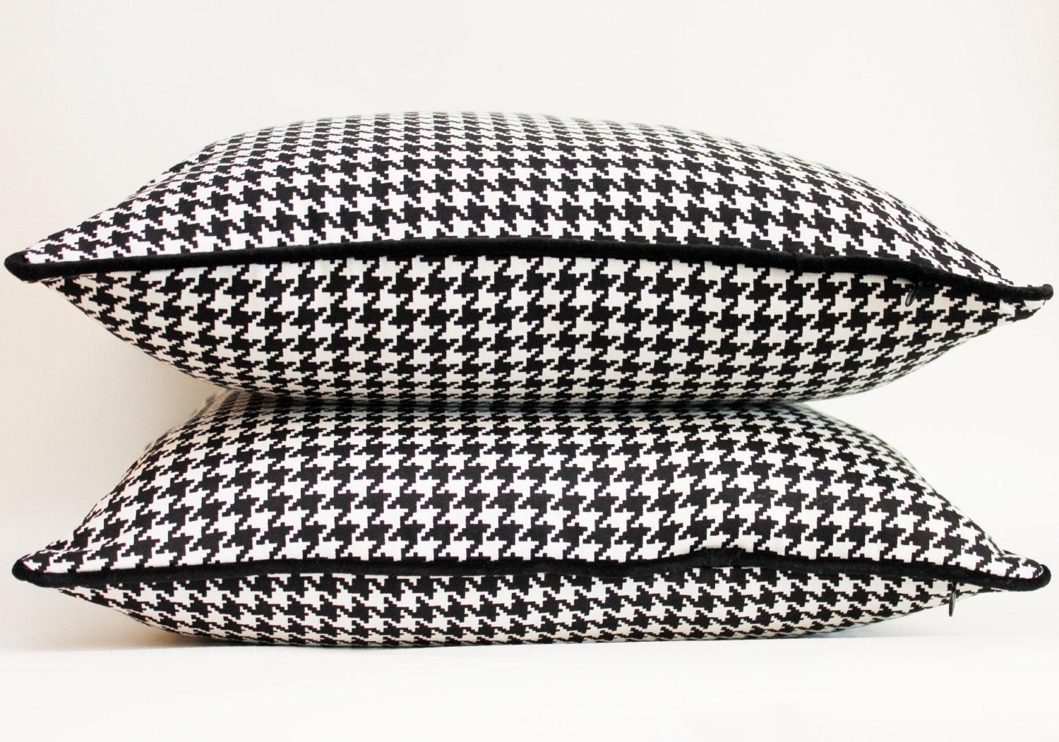 Black And White Houndstooth Throw Pillows : Throw Pillow Cover - Classic Houndstooth - 18