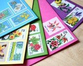 Garden Party Spring Postal Stationery Set Invitations Spring Postage Greeting Flower Stamps Easter Shower Gift