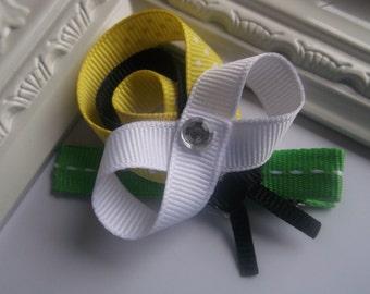 Bumble Bee Ribbon Sculpture Hair Cllip