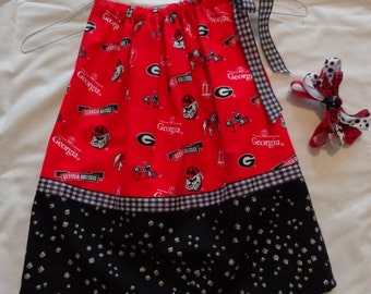 Toddler Girl's Pillowcase Dress with Matching Hair Bow