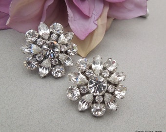 Swarovski earrings Bridal Rhinestone Stud Earrings Wedding Rhinestone Earrings Vintage Wedding Bridal Rhinestone Earrings Wedding Jewelry