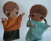 Boy and Girl Vintage Hand Puppets American Guidance