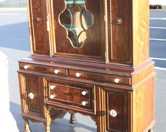 Vintage China Cabinet-1930s-American made