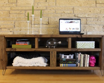 "Reclaimed Wood Media Console - ""The Habermehl"" - Made to Order"