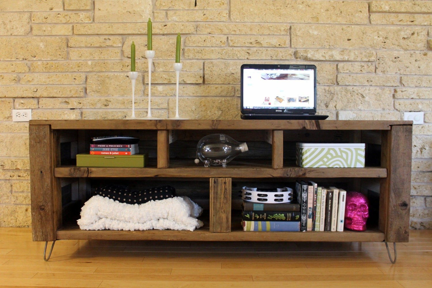 Reclaimed wood media console the habermehl
