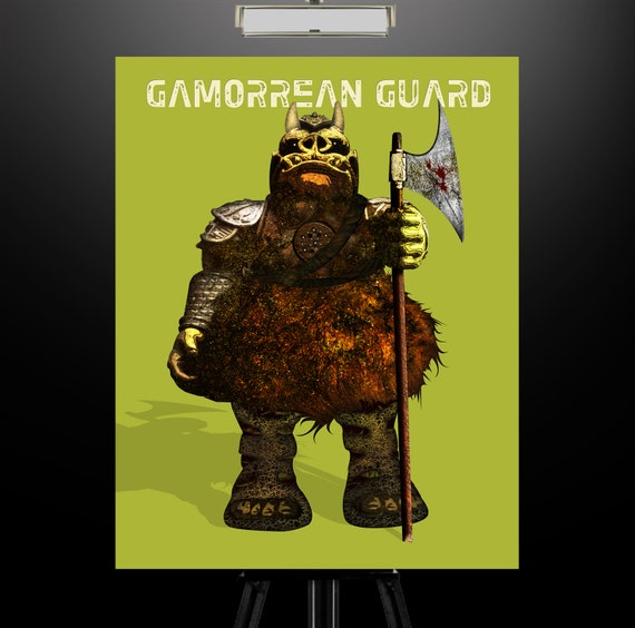 Star wars inspired gamorrean guard 11x14 print 2 - Star wars gamorrean guard ...