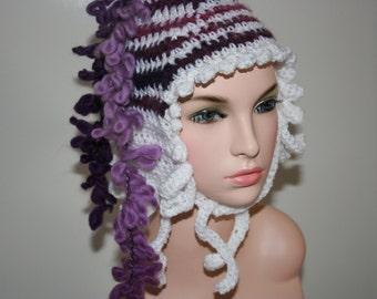 No: 22 Freeform crochet hat, wearable art, OOAK