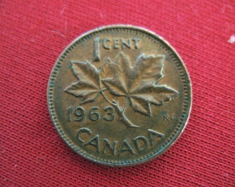 CANADA One Cent 1963     -4-