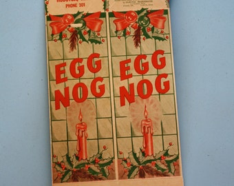 1940's/1950's Egg Nog Carton - from Houston Dairy