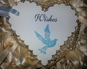 "100 WEDDING WISH TAGS ""Wishes ""Blue Bird"""