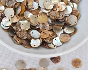 200pcs Savaged small shell Beads in mother of pearl natural color 10mm -BK0021