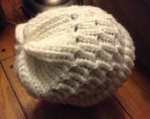 Reserved for Scott - Winter White Knitted Hat - Warm and Cozy