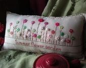 Summer Flower Garden Pillow (Cottage Style) - PillowCottage
