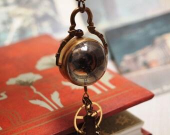 Steampunk Tempus Fugit chain watch