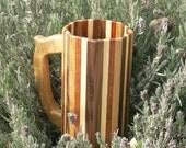 Oregon Oak, White Oak, Red Oak, Paduk, and Walnut Wooden Mug - 122
