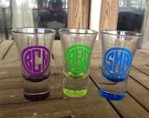 Monogrammed Shot Glass, Personalized Shot Glass