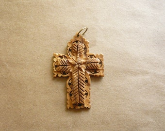 Vintage Carved Wood Cross