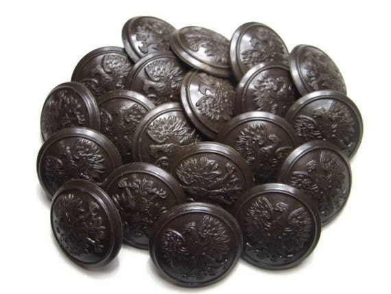 20 Vintage Buttons military style Supplies buttons lot antique