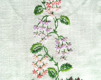 Vintage Embroidered Tea Towel cloth