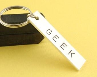 SALE - Geek Keychain - Geekery Keychain - Keyring Key Chain Key Ring