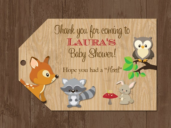 woodland favor tags woodland baby shower tags forest animals