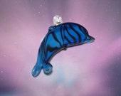 Dolphin Lampwork Charm Pendant Necklace