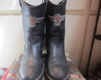 Authentic Harley Davidson Motorcycle Boots Mens Size 10