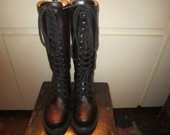 John Fluevog Angels Lucky Swirl Combat Boots W 7 M 5