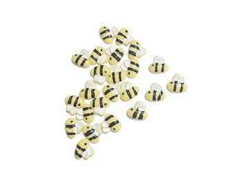 400 Pcs Bumblebee Resins / Cabochons for Nail Art / Decoratives for Scrapbooking (Size 9x8mm). SALE! Free Shipping!