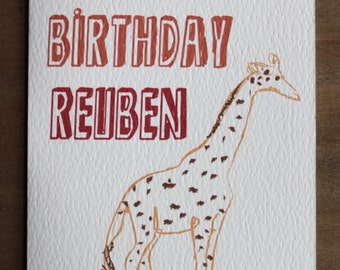 Personalised Children's Birthday Card