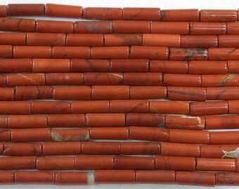 4x13mm Column Red Jasper Semi Precious Gemstone - 6230