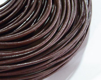 2mm Genuine Leather Cord Light Brown - 2431 - Wholesale Leather Cord