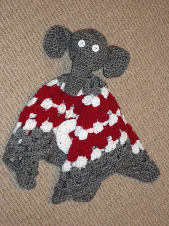 Items similar to Crochet Grey, White, and Red Granny ...