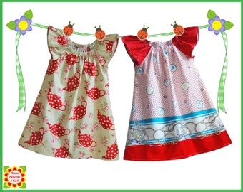 Cecilia Sewing PATTERN for Children + Free Mother-Daughter Apron Pattern, Girls Dress Pattern, Peasant dress Pattern, Toddler, handmade