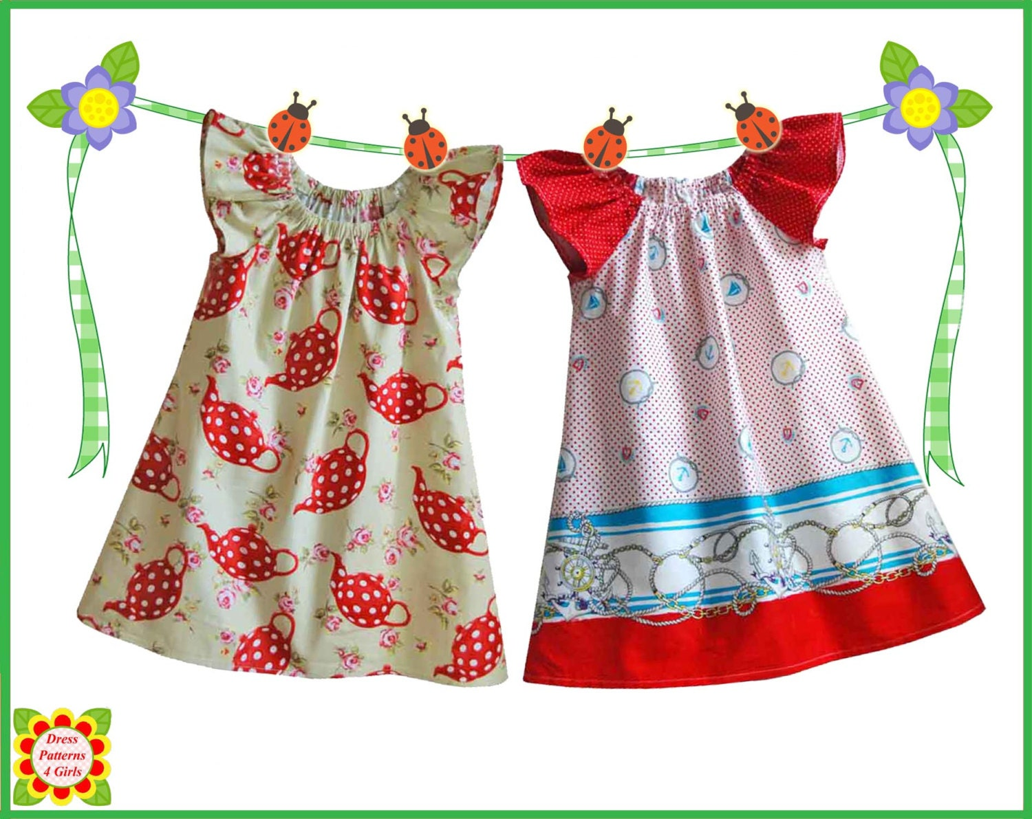 Cecilia sewing pattern for children free mother daughter for Childrens dress fabric