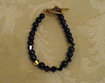 Crystal Bracelet - Ebony Elegance