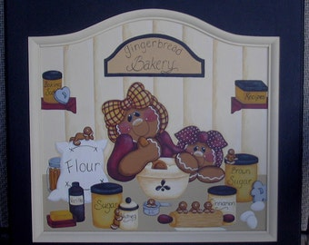 Gingerbread Bakery instructional painting pattern packet instant download