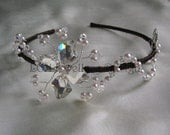 Bridal Headdress - Handmade Swarovski Crystal & Pearl Side Detail Headband Tiara
