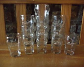 Set of 12 Vintage Enjoy Coca Cola 6 Ounce Glasses