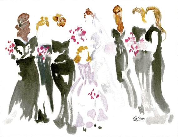 Wedding Gift Paintings: Items Similar To SALE Price For This Painting Only